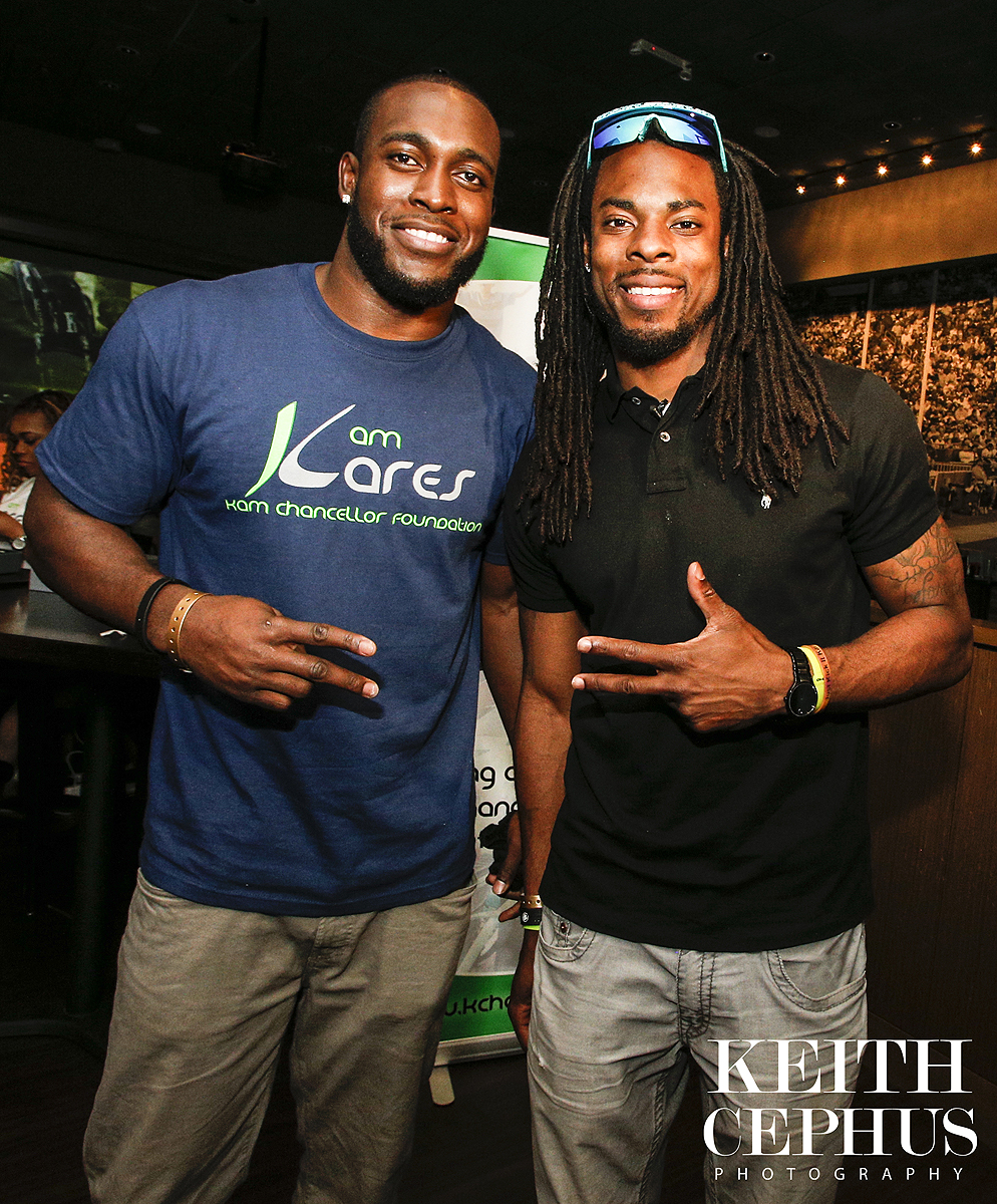 Superbowl Champs Seattle Seahawks Kam Chancellor Gives Back to the Community of Hampton Roads!