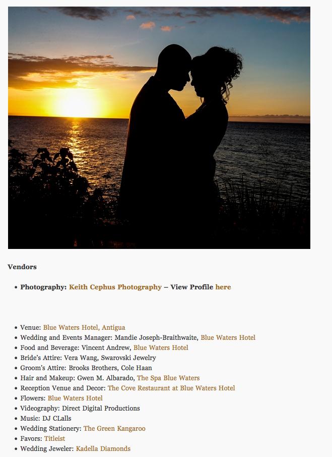 Blue Water Hotel Antigua Wedding Photographer | Antigua Destination Wedding Photographer | Cephus' Wedding Featured in Munaluchi Bride!