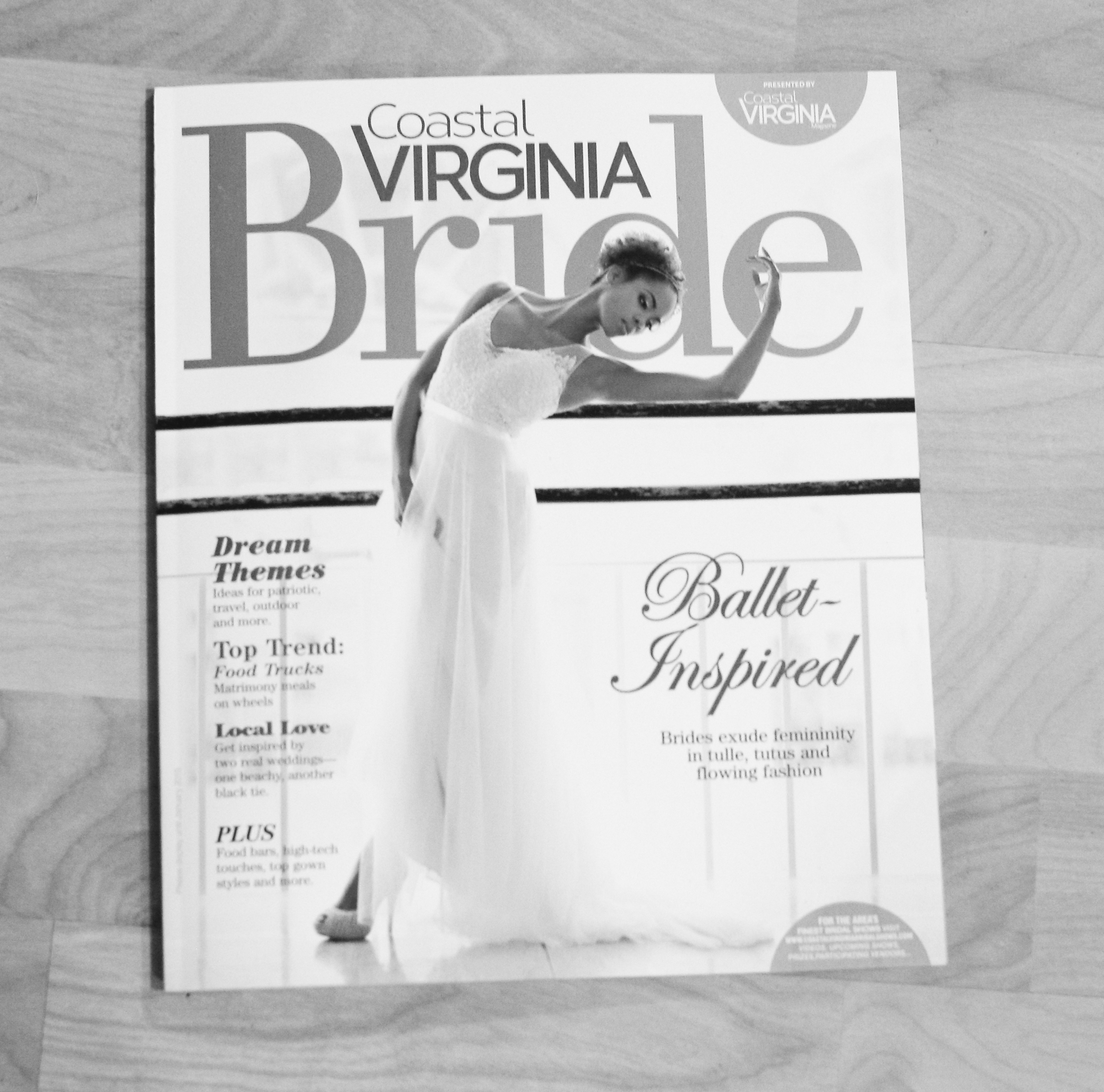 Cephus Photographs The Jan 2015 Cover of Coastal Virginia Bride Magazine!