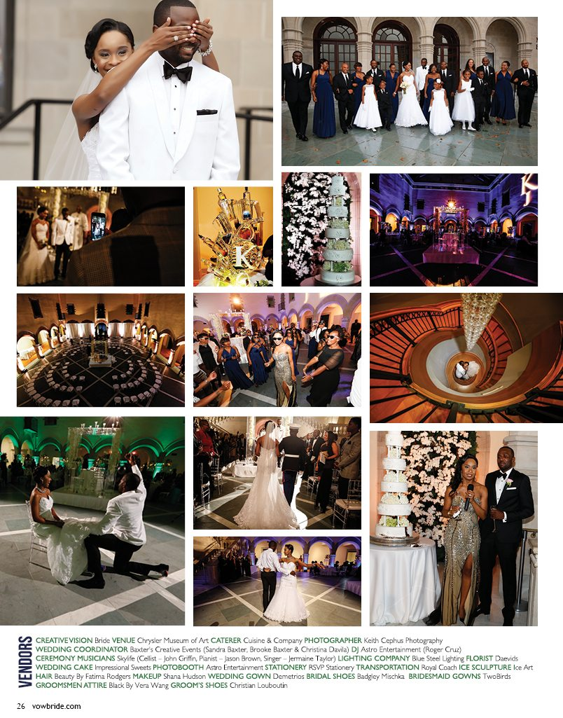Chrysler Museum Wedding Photographer | My Wedding is Featured in This Issue of Vow Bride Magazine!