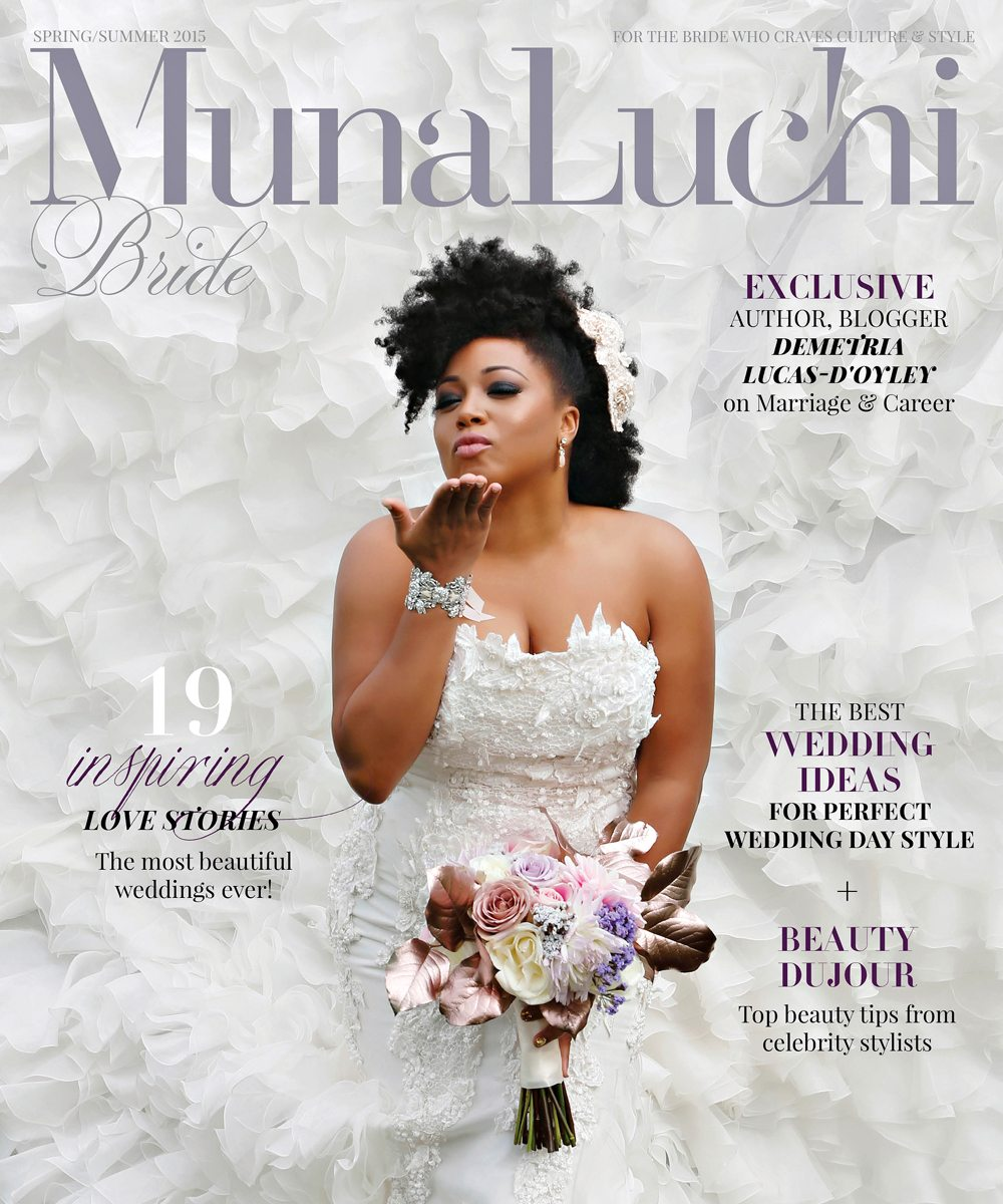 Cephus Photographs Bravo TV Actress Demetria Lucas D'Oyley for the Cover of Munaluchi Bride Magazine!