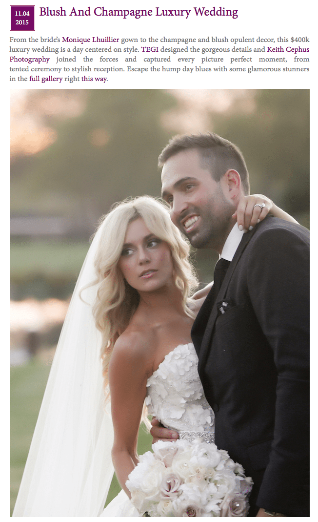 Keith Cephus Photography Luxury Weddings | Cristina and Joe's Amazing Wedding Featured in Belle The Magazine!