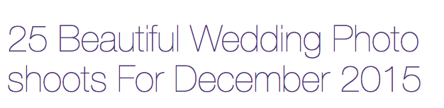 """Keith Cephus Photography Makes Love Hits """"Top 25 Wedding"""" List in December!"""