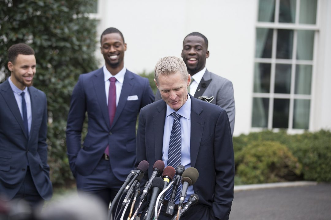 Cephus Photographs the Champion Golden State Warriors in the White House!