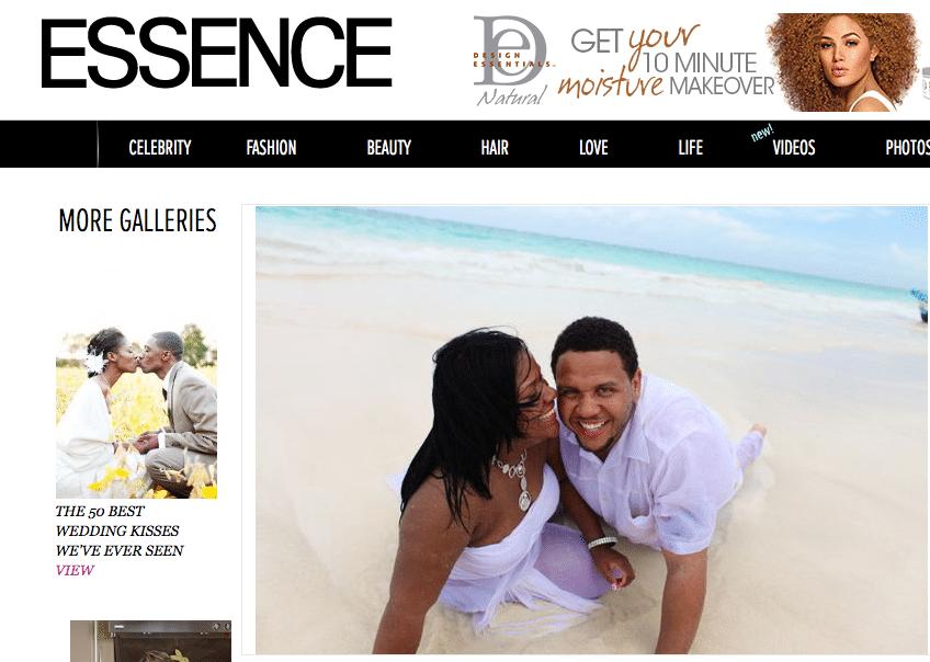 "Essence Magazine Destination Wedding Photographer | Keith Cephus Photography Makes Essence ""40 Most Stunning Destination Wedding Photo List!"""