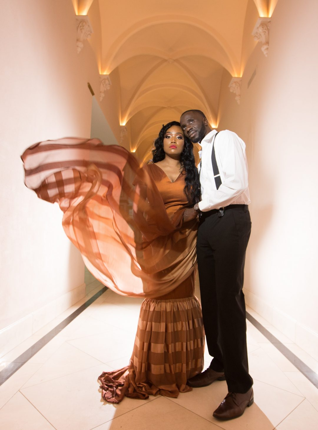 Nigerian Wedding Photographer | Kimberly & Adeniyi's Engagement Session at the Chateau Cocomar Featured in BlackBride.com