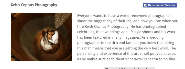 """Keith Cephus Photography Selected """"Top 10 in Virginia Beach"""""""