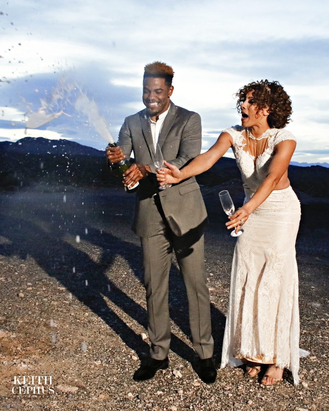 Wedding Styled Photo Shoot with New York Jets CB Juston Burress and Former Miss United States Brittany Williams at the Valley of Fire in Las Vegas