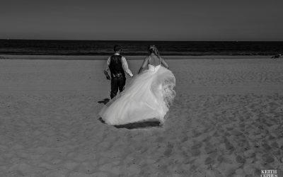 Sandbridge Beach Wedding Photographer | Sunshine and John's Beach Wedding