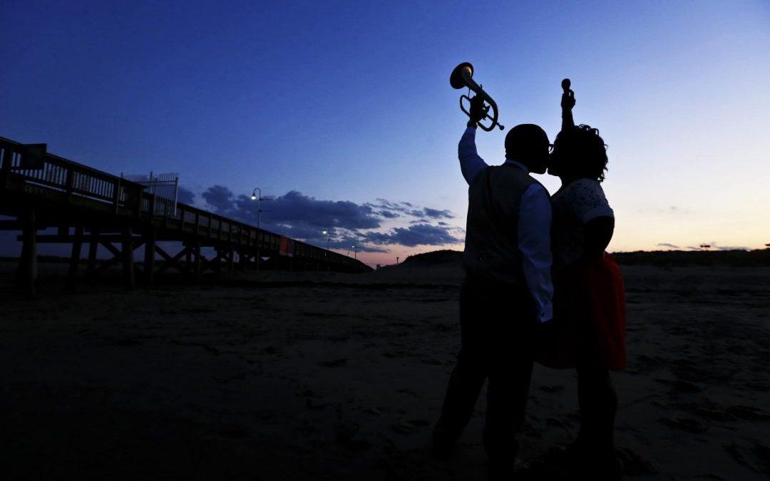 Sandbridge Virginia Wedding Photographer | Brittany and Sebren's Engagement Session
