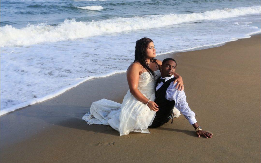 Virginia Beach Wedding Photographer Sandbridge Ashley And James Trash The Dress