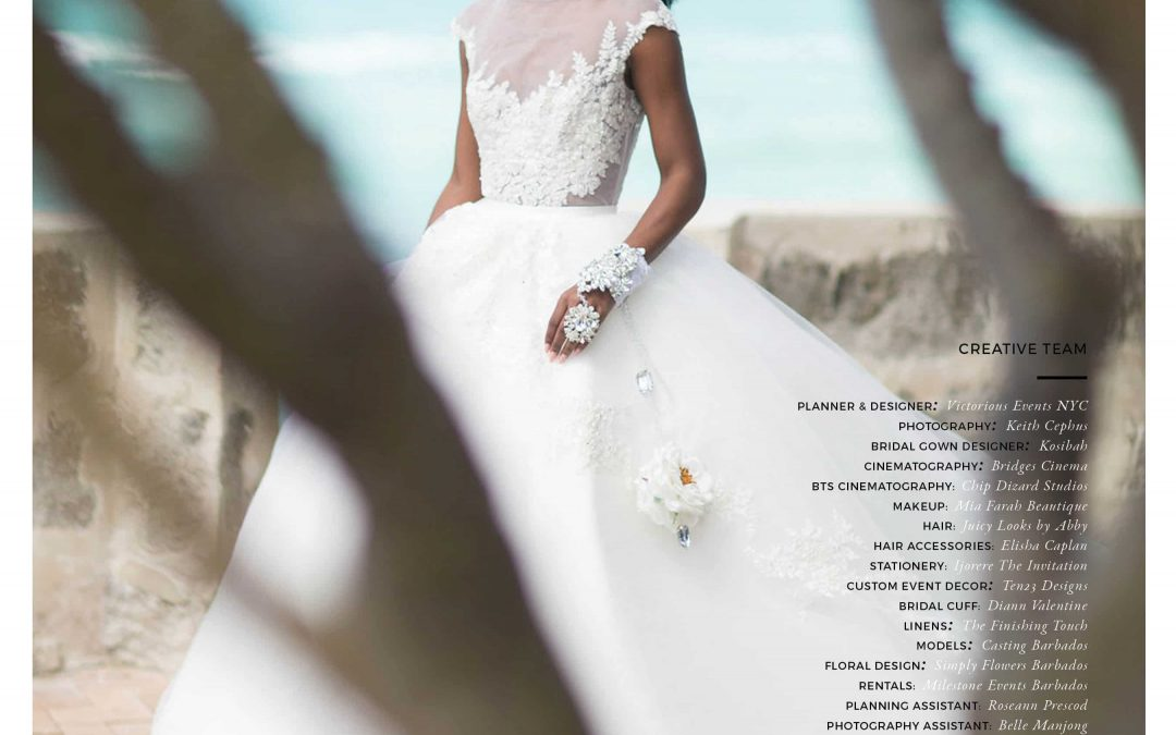 Destination Wedding Photographer | Keith Cephus' Barbados Styled Shoot Featured in Munaluchi Bride Magazine!!