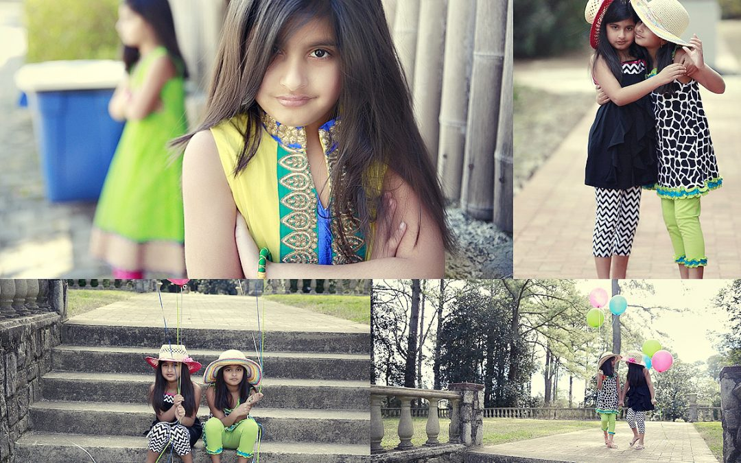 Norfolk Botanicla Gardens Photographer | Photo shoot with the Twins Shreya and Deeya!